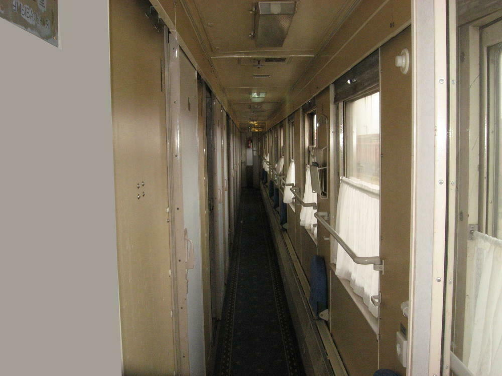 corridoio vagone seconda classe kupe Transiberiana