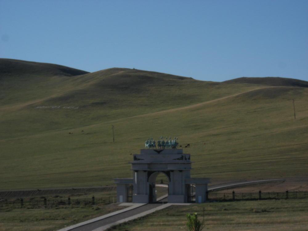 ingresso monumento Gengis Khan - Mongolia