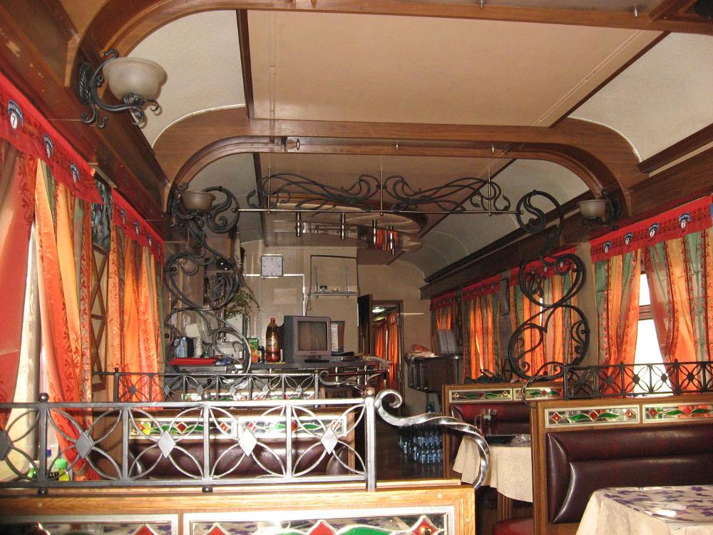 vagone ristorante Transiberiana